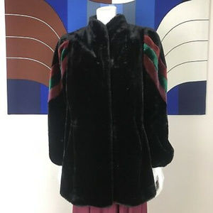 Carol Horn vintage Black Faux Fur Coat